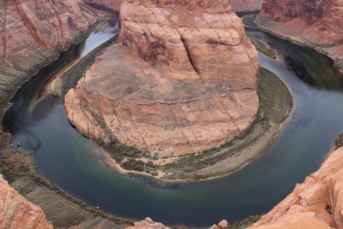 horseshoe bend usa national park stone