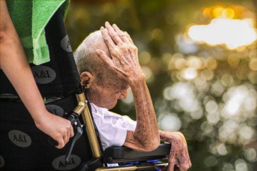 hospice care elderly in wheel chair