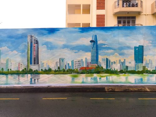hostels paintings the city