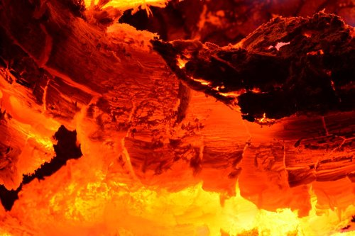 hot  flame  heat
