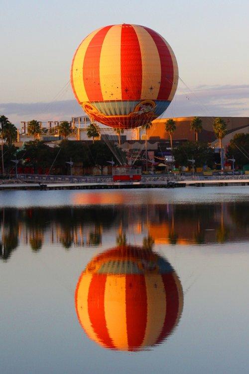 hot air ballon  morning  air