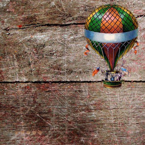 hot air balloon background grunge
