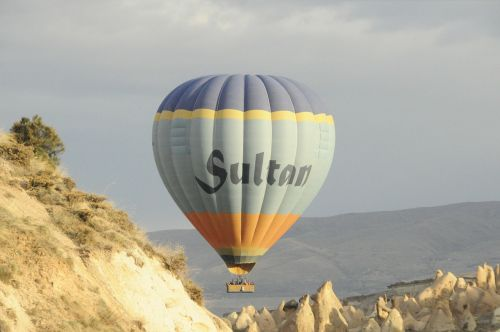 hot air balloon mountains balloon