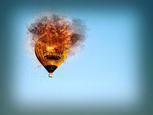 hot air balloon fire hot air balloon ride