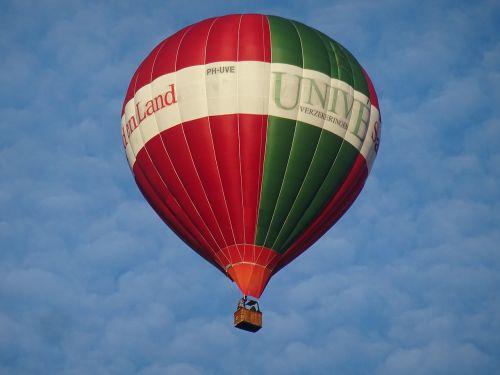 hot air balloon air blue sky