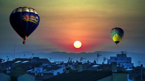 hot air balloon  adventure  emotions