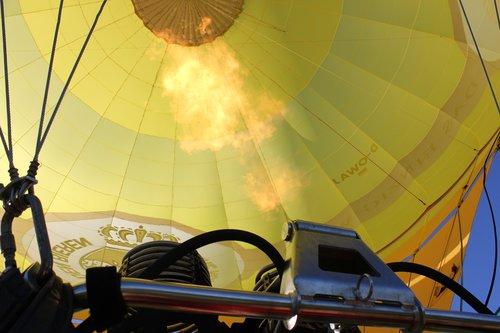 hot air balloon  burner  hot air balloon ride