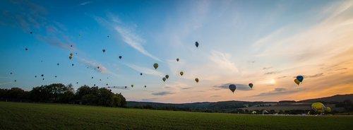 hot air balloon  montgolfiade  mass start