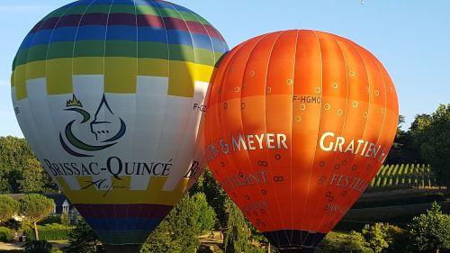 hot-air ballooning ball travel
