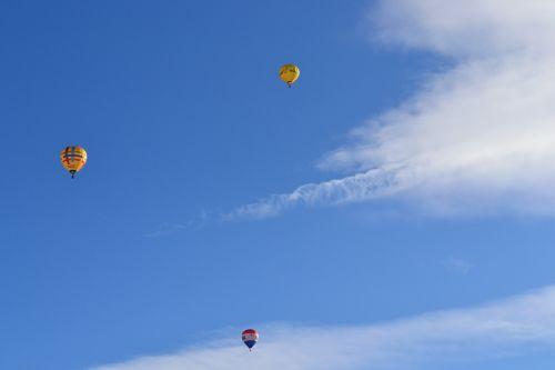 hot air balloons sky fly