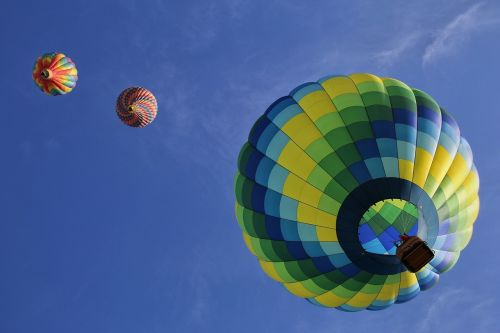 hot air balloons floating fun