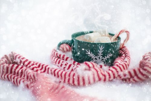 hot chocolate snow scarf