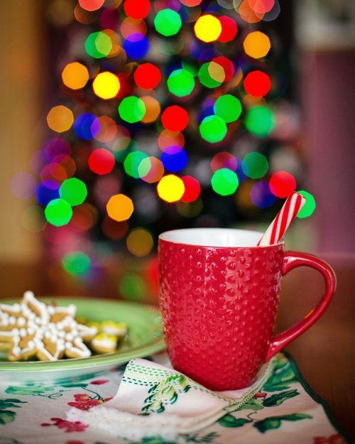 hot chocolate christmas christmas tree