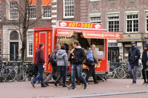 hot dog amsterdam food