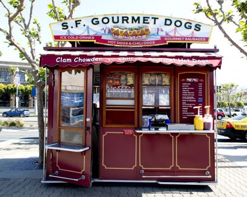 hot dog stand fast food