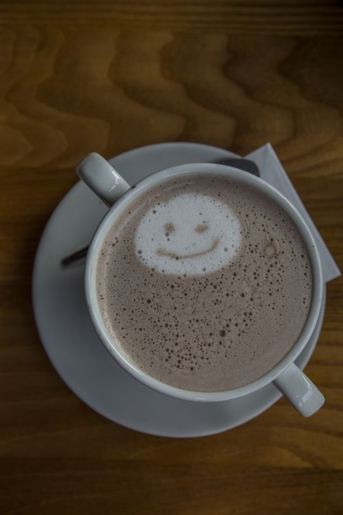 Hot Drink With Smiley Face