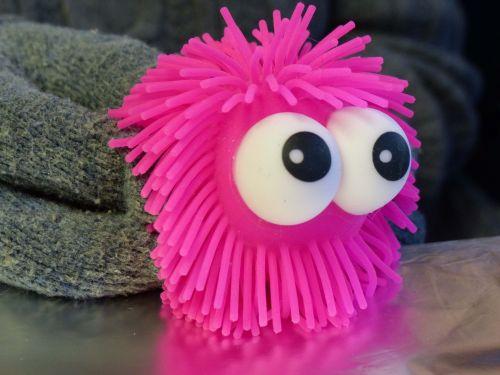 Hot Pink Eyeball Toy