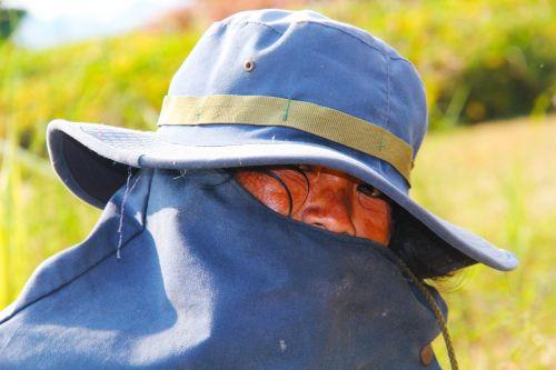 hot sun gardener eyes