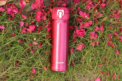hot water bottle red vacuum flask