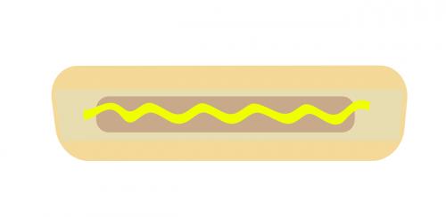 hotdog bun mustard