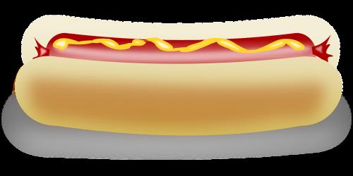 hotdog mustard bread