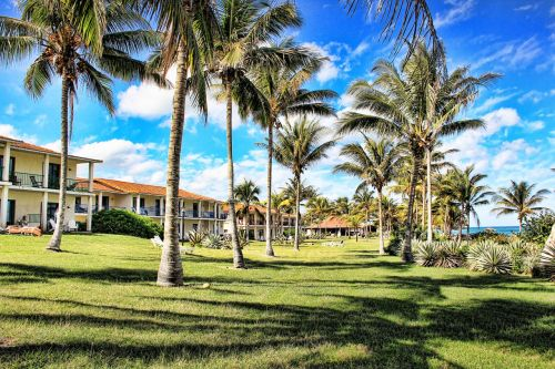 hotel,hotel complex,cuba,holiday,sky,palm trees,holiday complex,holiday region,tourism,holiday resort,caribbean,hdr image
