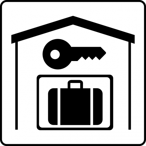 hotel key luggage