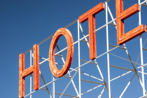 hotel sign advertising
