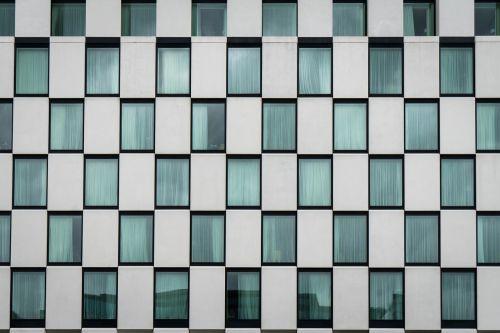 hotel window facade