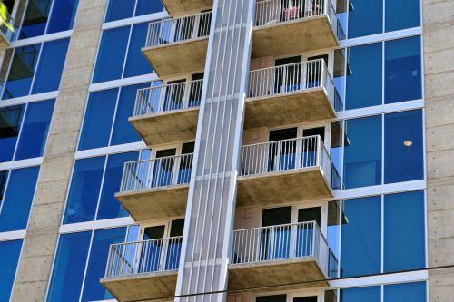 hotel exterior terraces windows