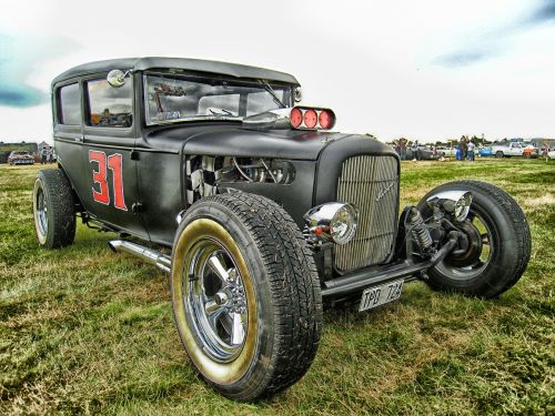 hotrod car automobile