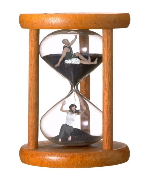 hourglass sands of time woman