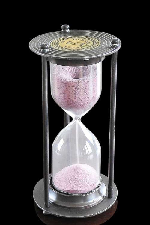 hourglass timepiece sand