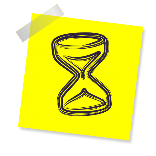hourglass sign icon