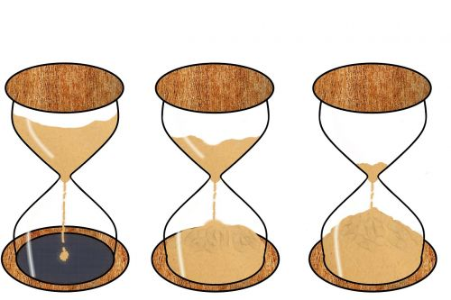 hourglass time time lapse