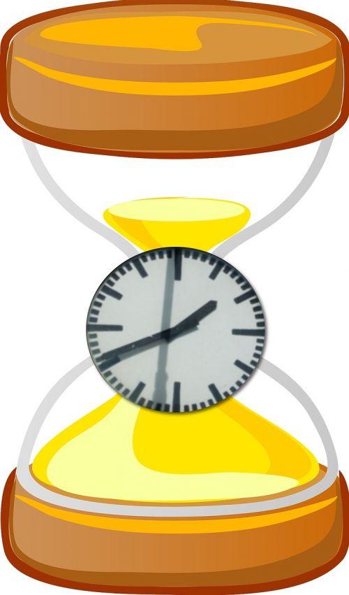 hourglass timer clock