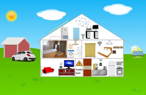 infographic house electricity