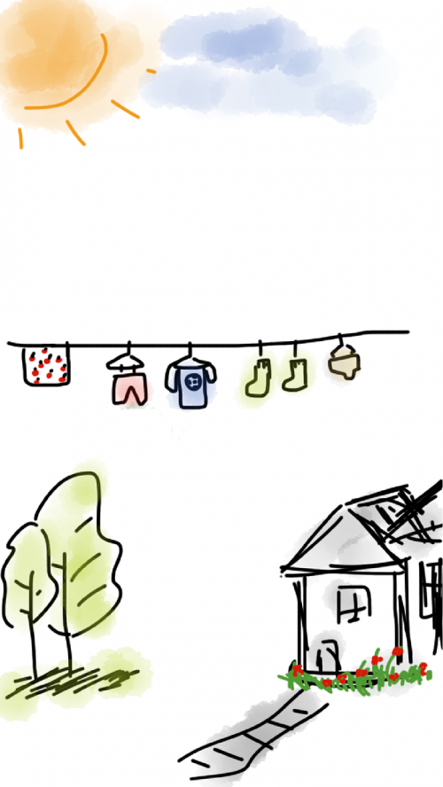 house laundry clothes