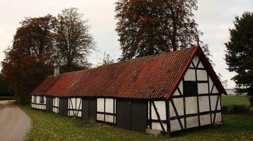house timber frame autumn