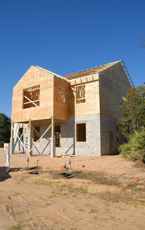 house construction site frame