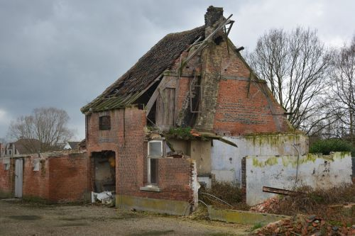 house dilapidated house ruin