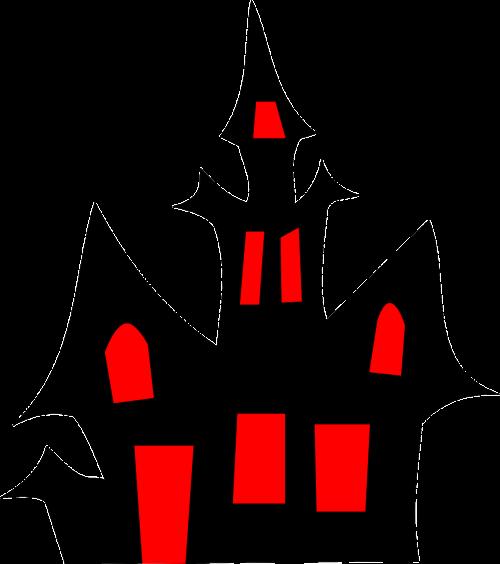 house halloween silhouette
