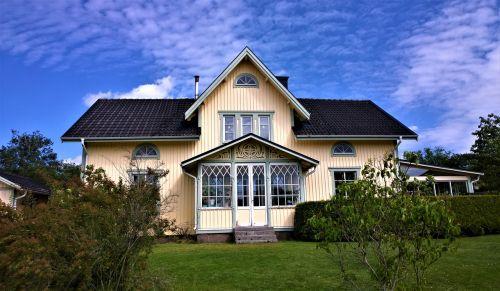 house villa wooden house