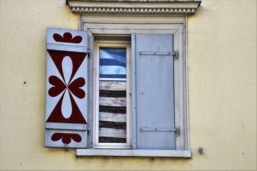 house  old windows  window sill