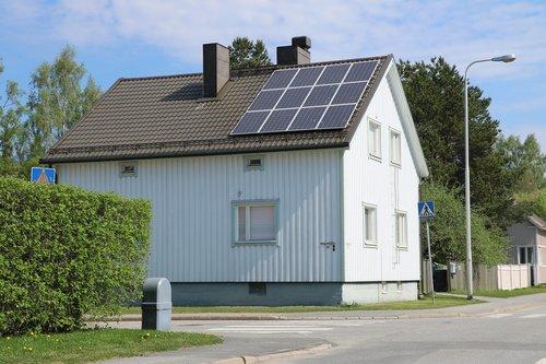 house  building  solar panel