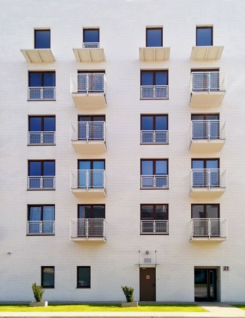 house block of flats building
