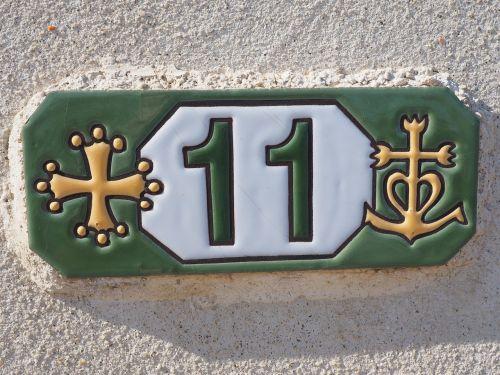 house number board tile