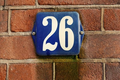 house number number plaque