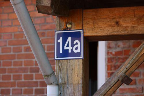 house number number metal