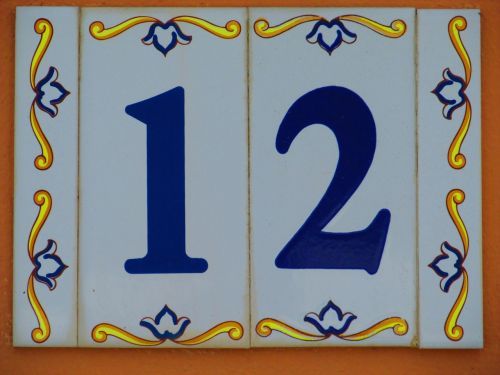 house number shield 12